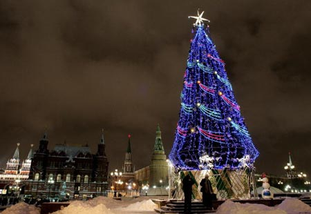moscow celebrates christmas according to the russian orthodox calendar on jan 7 for weeks beforehand the city is alive with festivities in anticipation - Biggest Christmas Tree In The World