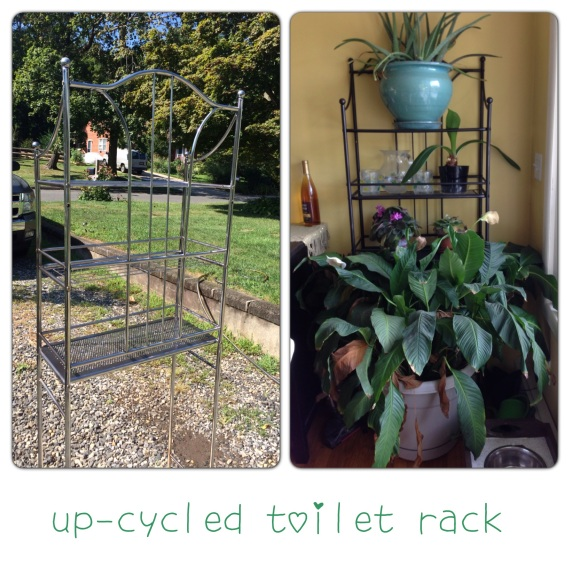 upcycled toilet rack